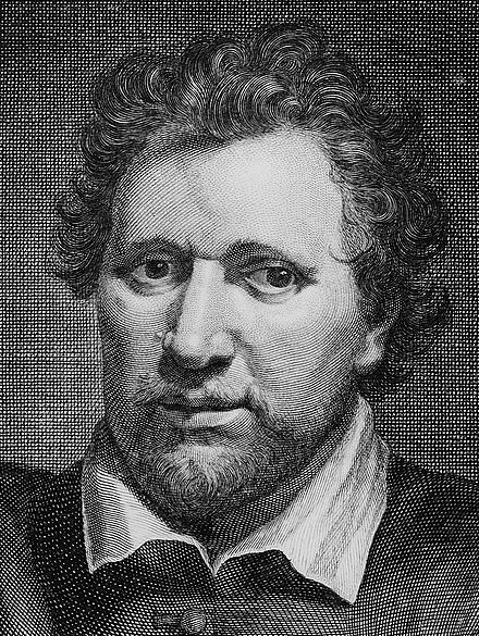 Ben Jonson: rival, co-author, frenemy Ben Jonson by George Vertue 1730 (cropped).jpg