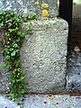 Benchmark on gatepost at entrance to St George's Church - geograph.org.uk - 2095574.jpg
