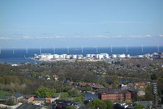Artificial island and former naval fort off Copenhagen, Denmark.