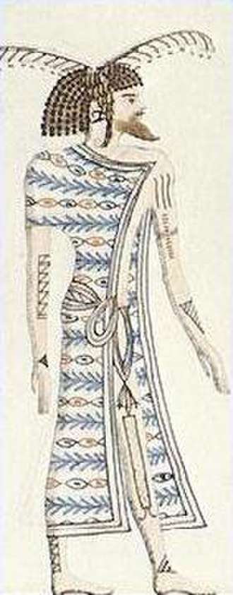 Ancient Libya - An Ancient Libyan; as depicted in the tomb of Seti I