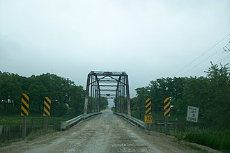 Humboldt County, Iowa - Berkhimer Bridge, located northwest of Humboldt, was built in 1899.