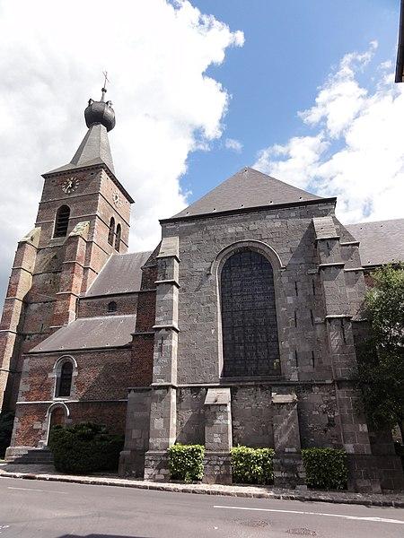 Berlaimont (Nord, Fr) église