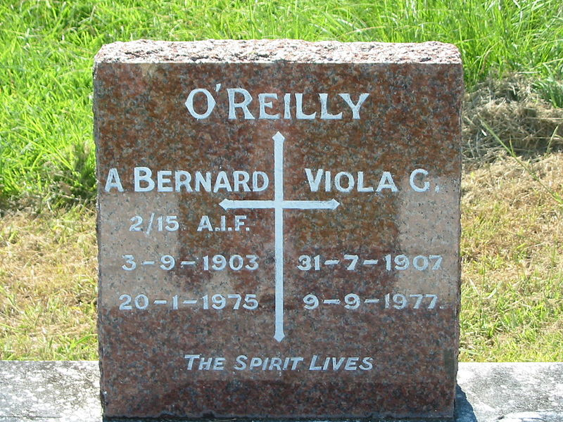 File:Bernard O'Reilly headstone, St Johns Catholic Church, Kerry.JPG