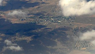 Berridale, New South Wales - aerial view from north west