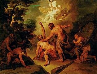Hercules fighting Achelous.