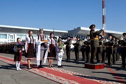 The Presidential Band of the Republic of Moldova played during Joe Biden's state visit to Moldova. Biden's 2011 visit to Moldova 03.jpg