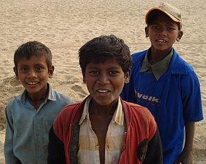 Children from a village in Bihar, India
