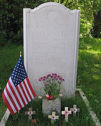 "Billy Fiske - The grave of William Meade Lindsley ""Billy"" Fiske III"