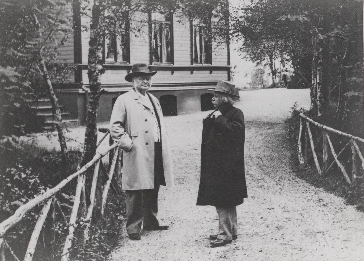 File:Bjørnstjerne Bjørnson and Edvard Grieg at Edvard's 60 year ...