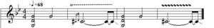 Black Sabbath (song) - Image: Black sabbath transcription