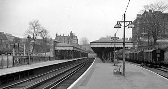 Blackheath railway station - View eastward, towards Dartford in 1962