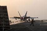 Blasting off the USS Ronald Reagan DVIDS114912.jpg