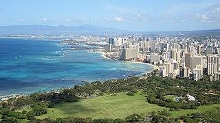 Udsigt over Waikīkī og Honolulu fra Diamond Head