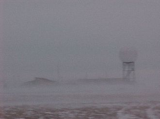 Blizzard - A blizzard in Goodland, Kansas.