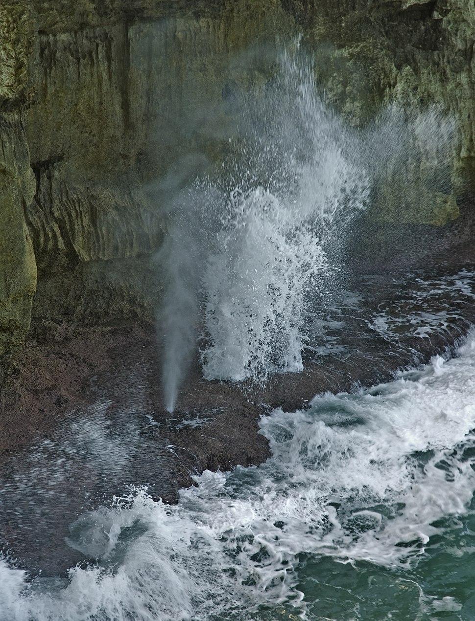 Blowhole, Barbados coast