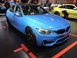 Blue BMW F30 M3 at the 2014 Toronto Auto Show.jpg