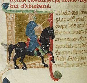 Blacatz - Blacatz as a knight in a 13th-century miniature