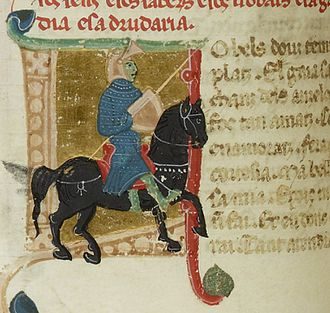 Blacatz - Blacatz as a knight in a 13th-century miniature