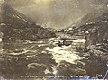 Boat navigating the rapids on One Mile River between Bennett Lake and Lindeman Lake, British Columbia, Spring 1898 (MEED 9).jpg