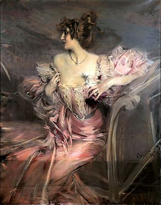 Marthe de Florian - Painting by Giovanni Boldini (1888)