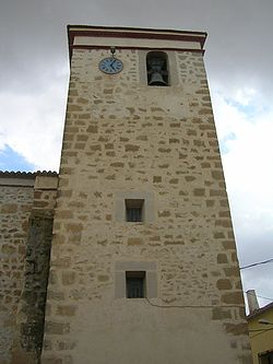 Bonete Albacete Spain torre de la iglesia church tower.jpg