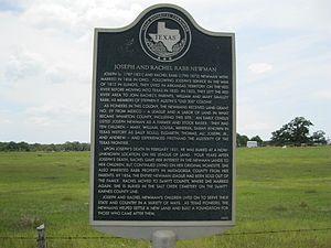 Bonus, Texas - Image: Bonus TX Newman Marker