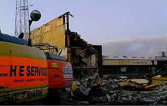 Boothferry Park - Boothferry Park being demolished in March 2008