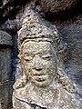 Borobudur - Divyavadana - 076 N, King Rudrayana abdicates in favour of his son Sikhandi (detail 3) (11706330713).jpg