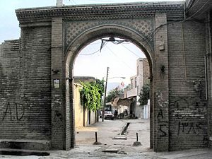 Borujerd - Old gate of Imamzadeh Jafar