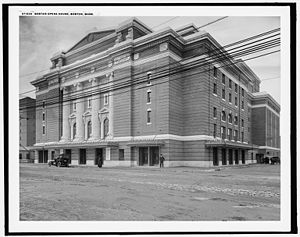 Boston Opera House (1909) - The Boston Opera House, circa 1910.