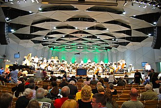 Boston Pops Orchestra - Boston Pops preparing to play at Tanglewood