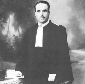 Habib Bourguiba - Picture of Bourguiba, lawyer in Bab Souika, circa 1931, after his return to Tunisia.