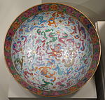 Bowl with Chinese dragons and western-style flowers, Chinese porcelain, 1810-1830 - Winterthur Museum - DSC01547.JPG