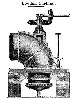 Uriah A. Boyden - Boyden turbine