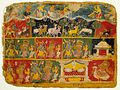 Brahma Salutes Krishna (recto); Text (verso); Folio from a Bhagavata Purana (Ancient Stories of the Lord) LACMA M.91.69.jpg
