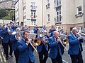 Brass band outside the Canon pub Jedburgh.jpg