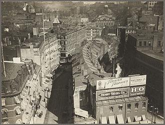 Brattle Street (Boston) - Image: Brattle St ca 1920 Boston BPL 08 02 001024