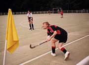 Sideline hit in a match Standard Athletic Club vs. British School of Paris (1996)