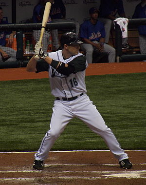 Brendan Harris - Harris batting for the Tampa Bay Devil Rays in 2007