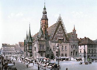 Wrocław - Old Town Hall, 1900