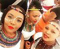 Bridesmaids at a Xhosa Wedding in Zulu attire.jpg