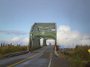 Yellowknife Highway - Bridge over the Frank Channel near Behchoko