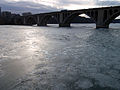 Bridge over the frozen Potomac River, at dusk, 2010 01 15 -a.jpg
