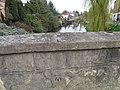 Bridge parapet and bench mark (geograph 1833257).jpg