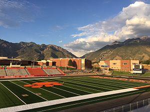 Brighton High School (Cottonwood Heights, Utah) - Brighton Bengal's football field in 2015