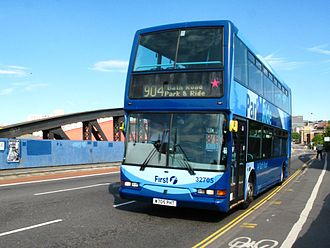 Bristol park and ride - First Bristol East Lancs bodied Dennis Trident on route 904 in June 2011