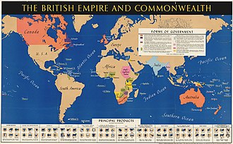 British Empire in World War II - British Empire and Commonwealth forms of government and production c 1940