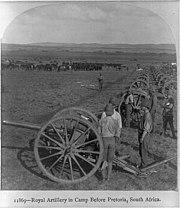 British artillery safrica c1900
