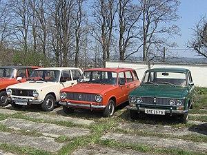 Zhiguli (car brand) - Early models (left to right): VAZ-2101 (1970), VAZ-2102 (1971) и VAZ-2103 (1972)