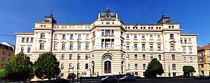 Harok family murder - Palace of Justice in Brno which houses the regional court appropriate to hear the Harok family murder case.